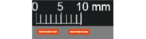 Obtisky, logo Metrostav, 2 kusy, 3 x 4 mm, TT, Štěpnička D038