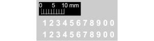 Čísla na vojenskou techniku - 1,5 mm, N, Štěpnička D011