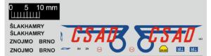 Obtisky, loga ČSAD, velká, TT, Štěpnička D055