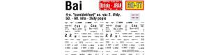 Obtisky Bai - 4-n. osobní osmidveřový vůz 50. - 60. léta, TT, Jiran 190