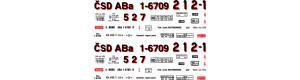 Obtisky ABa - 4-nápr. osobní vůz, 1. republika, H0, Jiran H249