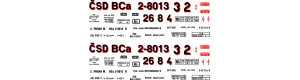 Obtisky BCa - 4-nápr. osobní vůz, 1. republika, H0, Jiran H250