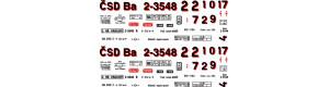 Obtisky Ba - 4-nápr. osobní vůz, 1. republika, H0, Jiran H251