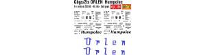 Obtisk na vůz Gbgs/Zts - 2-n. krytý, ORLEN Humpolec, žlutý popis, 60. - 80. léta, ČSD, H0, Jiran H214