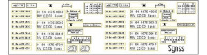 Obtisky Sgnss - kontejnerový vůz, Malá železnice 23404.01