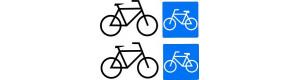 Obtisk 2 páry označení vozů s oddílem na převoz bicyklů, TT, Jiran 021