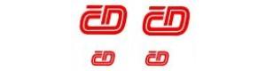 Obtisk 4 loga ČD - 2 velká plus 2 malá, červená, TT, Jiran 131