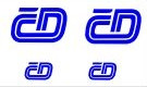 Obtisk 4 loga ČD - 2 velká plus 2 malá, modrá, TT, Jiran 132