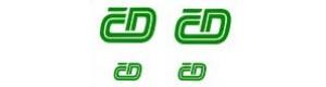 Obtisk 4 loga ČD - 2 velká plus 2 malá, zelená, TT, Jiran 133