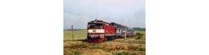 Pohlednice, motorová lokomotiva 749.251 s vozy Bmto u N. Vsi pod Pleší - květen 2007, Corona CPV045