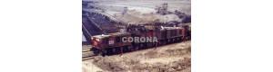 Pohlednice, důlní lokomotiva 27E ev. č. 258 v dole Družba SUS - květen 1998, Corona CPV003