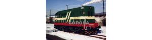 Pohlednice, dieselelektrická lokomotiva 721.524-7 v Prunéřově, Corona CPV005