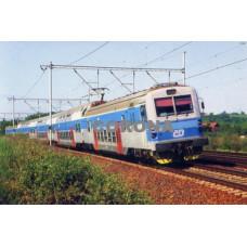 Pohlednice, elektrické jednotky řad 470.001-002 a 470.003+004 u Klučova - 1999, Corona CPV018