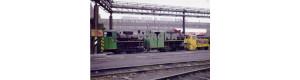 Pohlednice, motorová lokomotiva BH 60H č.2 a parní lokomotivy BS 80 č.11 a 15, Corona CPV022