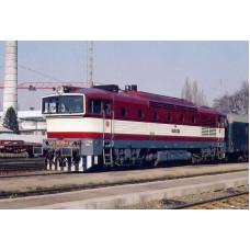 Pohlednice, motorová lokomotiva 750.264 v Č. Lípě - březen 1995, Corona CPV027