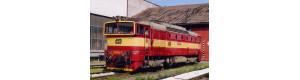 Pohlednice, motorová lokomotiva 750.385 v depu Liberec - červenec 2004, Corona CPV032