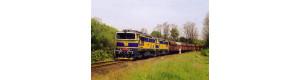 Pohlednice, lokomotivy 753.707 a 708 projíždí Kralupy nad Vltavou - květen 2005, Corona CPV033