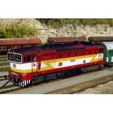 Pohlednice, motorová lokomotiva 750.371 v Bakove nad jizerou - říjen 2005, Corona CPV036