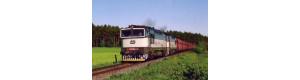 Pohlednice, motorové lokomotivy 753.099 a 753.060 u Zbůchu - květen 2001, Corona CPV037
