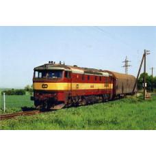 Pohlednice, motorová lokomotiva 751.239 u Velké Bučiny-Olovnice-květen 2006, Corona CPV041
