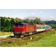 Pohlednice, motorová lokomotiva 749.252 u Hořic na Šumavě - srpen 2007, Corona CPV046