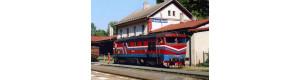 Pohlednice, motorová lokomotiva 751.149 ve st. Lipová Lázně - červenec 2007, Corona CPV049