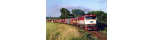 Pohlednice, motorové lokomotivy 751.176 a 751.092 u N. Strašecí - červen 2007, Corona CPV050