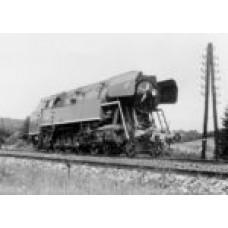 Pohlednice, Papoušek druhé série 477.060 na trati Praha-Benešov při zkušební jízdě, Corona CPV054