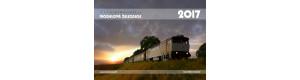 Měsíční nástěnný kalendář modelové železnice pro rok 2017, formát A3, na šířku, Trainmania, TR-KAL-2017