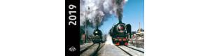 Nástěnný kalendář 2019 - lokomotivy, malý, DOPRODEJ, Corona CPK037
