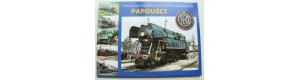 """Sada pohlednic - parní lokomotivy 477.0 """"Papoušci"""""""