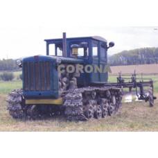Pohlednice, pásový traktor DT54, Corona CPA018