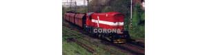 Pohlednice, motorová lokomotiva 770.513-0 u Vintířova - léto 2005, Corona CPV009