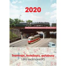 Nástěnný kalendář 2020 Tramvaje, trolejbusy autobusy, Léta sedmdesátá, Růžolící Chrochtík