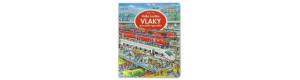 Velká knížka VLAKY pro malé vypravěče, Ella & Max, Kosmas